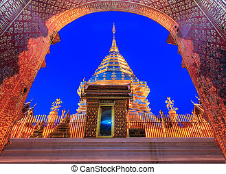 tempio, doi, provincia, phra, chiang, tailandia, suthep, wat...