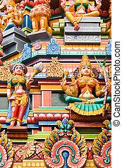 tempio indù, kuala lumpur, malaysia