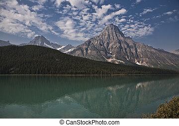 tempio, lago, -, jasper parco nazionale, -, alberta, -, canada