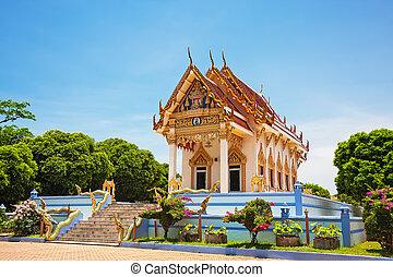 tempio, samui, koh, tailandia, kunaram
