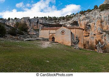 Templar chapel - templar romanesque chapel of San Bartolome...