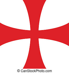 Templar cross. Spiritual chivalric order founded in the Holy...