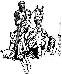 Templar knight on a horse