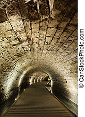 templar, tunnel, dans, acco