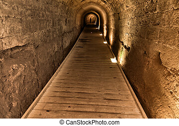 Templar Tunnel in Acco