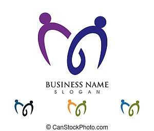 templat, logotipo, comunidade, cuidado