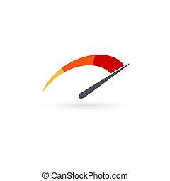 template., ビジネス, 速度計, ベクトル, ∥あるいは∥, 自動車, 隔離された, アイコン, illustration.