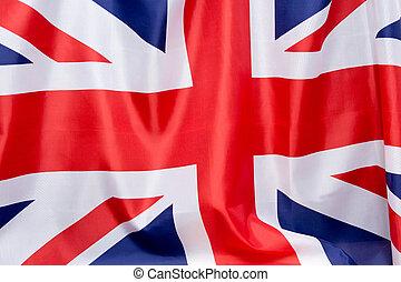 template., 場所, イギリス, 宣伝しなさい, wind., 旗, なびき