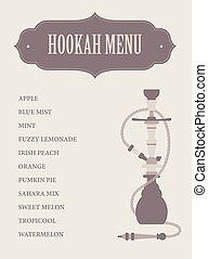 template., 首頁, 簡單, 菜單, hookah