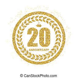 Template 20 Years Anniversary Illustration