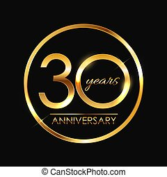 Template 30 Years Anniversary Vector Illustration