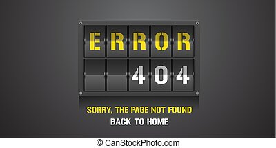 404 error page vector illustration, banner