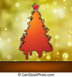 template., 8, eps, カード, クリスマス