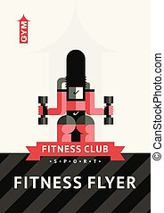 Template A4 horizontal vector for flyers, covers, posters. Fitness, sport, life.