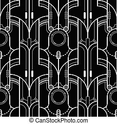 Template Abstract Tech lines pattern