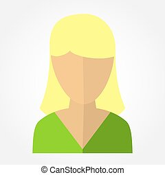 template avatars blonde girl