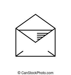 template., blanc, illustration., enveloppe, vecteur, arrière-plan., isolé
