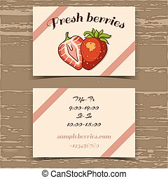 Template Business Card Strawberry