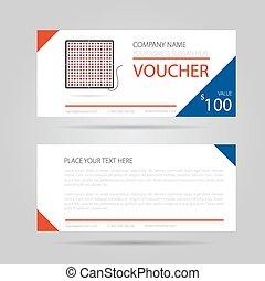 Template business voucher phytolamp - Vector illustration....