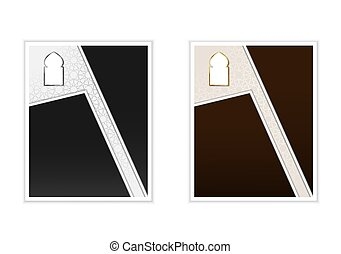 template., card., oro, vector, islámico, árabe, style., cartel, plata, gráfico, ramadan