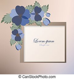 Template card with spring flowers