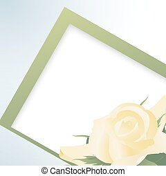 Template card with yellow roses