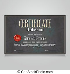 Template certificate of appreciation vector illustration