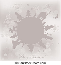 Template Christmas greeting card background, vector