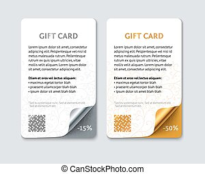 Template color gift cards