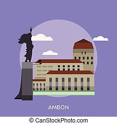 Template Complex Icon - 797. Ambon City of Indonesia ...