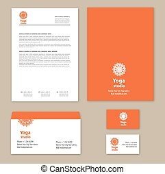 Template corporate style with a round