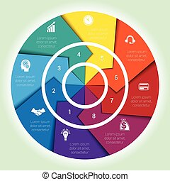 Template cyclic diagramme for Infographic eight position...