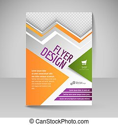 template., desenho, a4, voador, cobertura, editable, cartaz, magazine.
