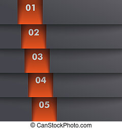 Template Design 5 Options Depth Black Orange PiAd - Template...