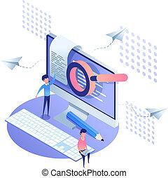 Template design analytics landing page