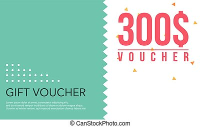 Template design gift voucher collection