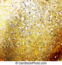 Template design on gold glittering. EPS 10
