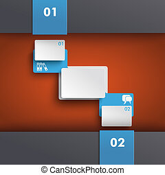 Template Design Orange Centre With Rectangles PiAd