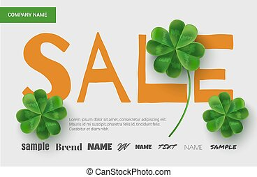 Template design sales banner on St. Patrick's Day.