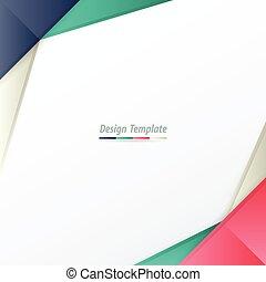 Template Design White, pink, purple, green