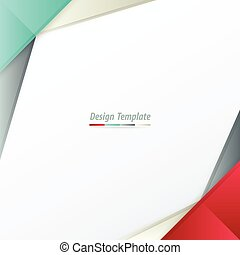 Template Design White, red, green, gray