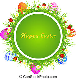 Template Easter greeting card