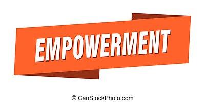 template., empowerment, 旗, リボン, ラベル, 印