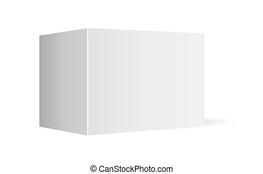 template empty box on a white background