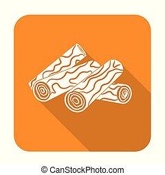 template - Firewood icon. Vector illustration