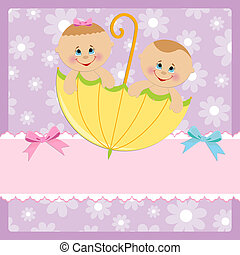Template for baby's postcard