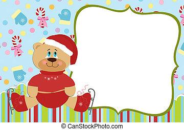 Template for baby's Xmas photo album
