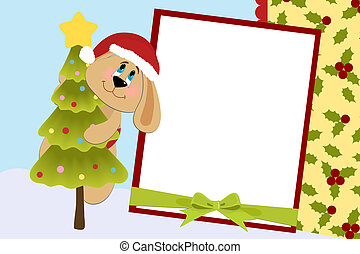 Template for baby's Xmas photo album or postcard