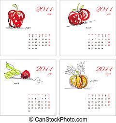 Template for calendar 2011.
