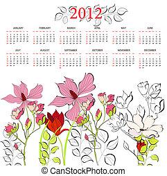 Template for calendar 2012